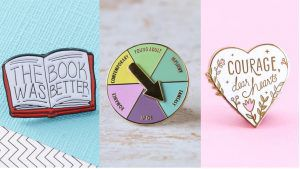 25 Bookish Enamel Pins You Need in Your Life | bookriot.com