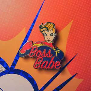 Captain Marvel Boss Babe Pin from 20 Enamel Pins For The Comic Geek | bookriot.com