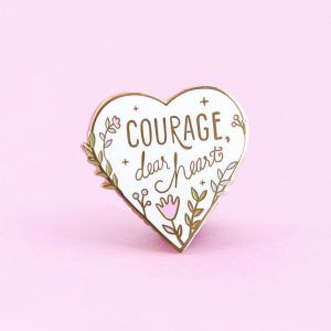 Narnia Courage Dear Heart Pin from 25 Bookish Enamel Pins You Need In Your Life | bookriot.com