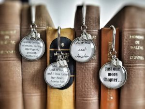 Metal and glass quote bookmark, Metal bookmarks │Book Riot