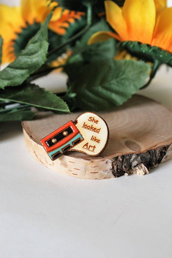 eleanor and park enamel pin