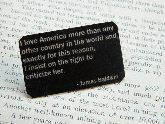 James Baldwin Brooch