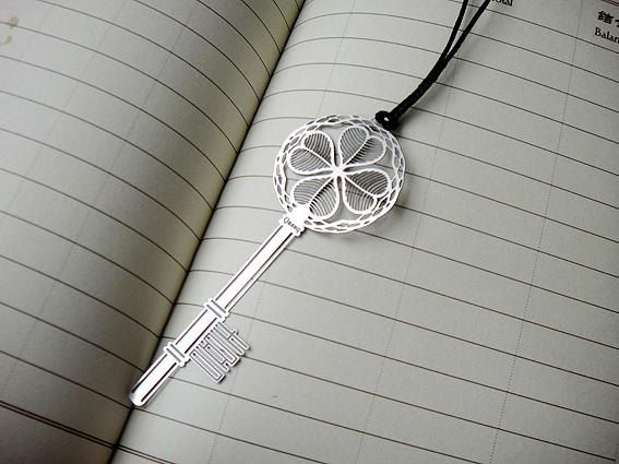 Key flat silver bookmark, Metal bookmarks │Book Riot