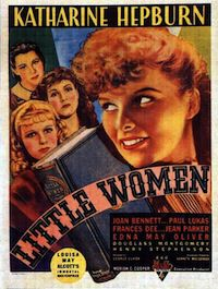 Poster for 1933 movie of Little Women starring Katharine Hepburn in In Defense of Amy March | BookRiot.com