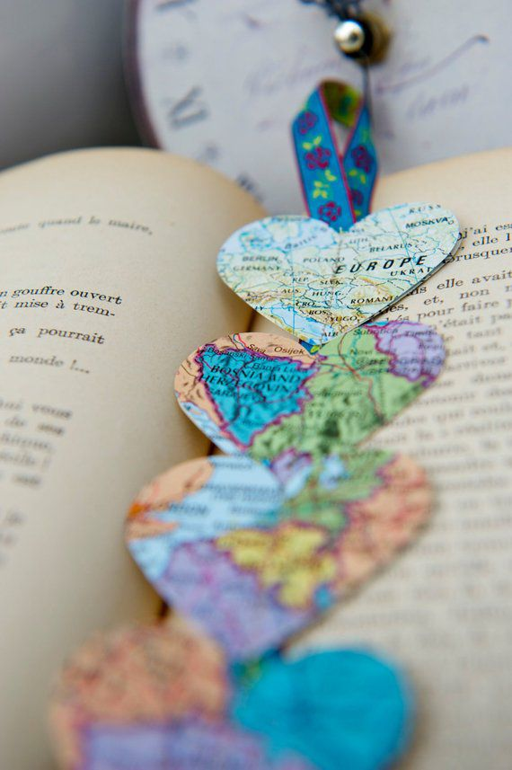 heart map bookmarks