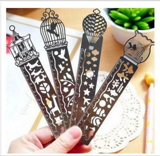 Ruler bookmark stencil, Metal bookmarks │Book Riot