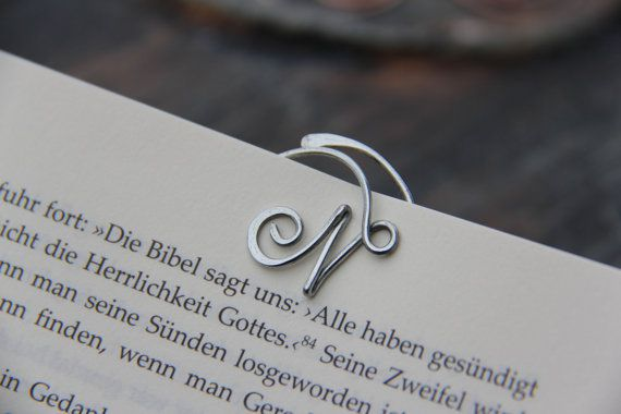 Personalized cursive bookmark, Metal bookmarks │Book Riot