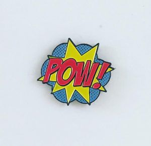 POW! Pin from 20 Enamel Pins For The Comic Geek | bookriot.com