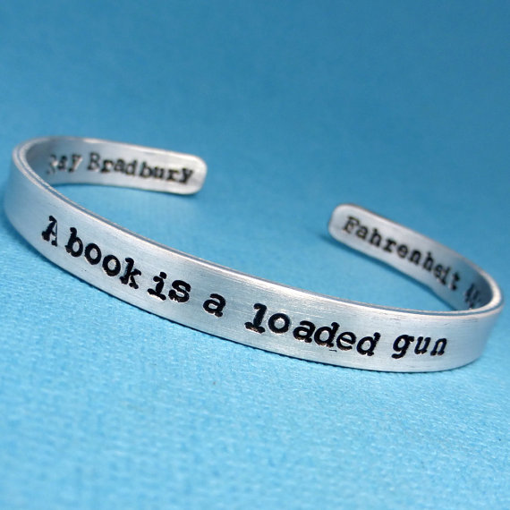 Fahrenheit 451 Old Woman Quote: Jewelry Based On Books You Need To Have In Your Life