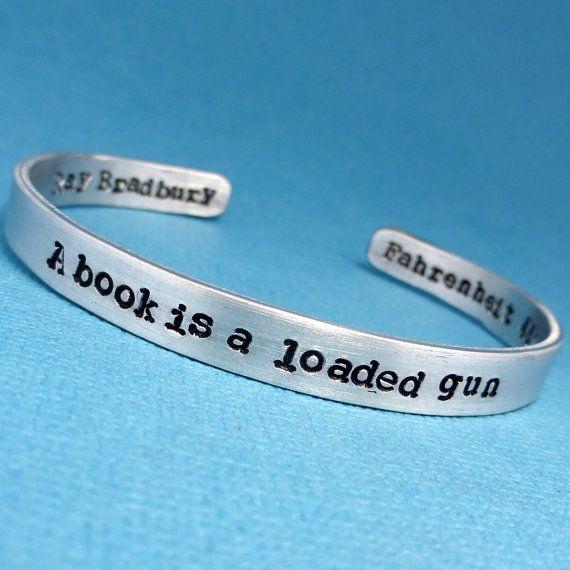 Ray Bradbury quote bracelet
