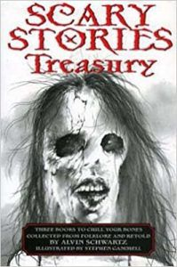 scary stories to tell in the dark book cover by stephen gammell and alvin schwartz