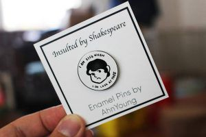 Shakespearean Insult Pin from 25 Bookish Enamel Pins You Need In Your Life | bookriot.com