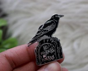 Six Of Crows No Mourners No Funerals Pin from 25 Bookish Enamel Pins You Need In Your Life | bookriot.com