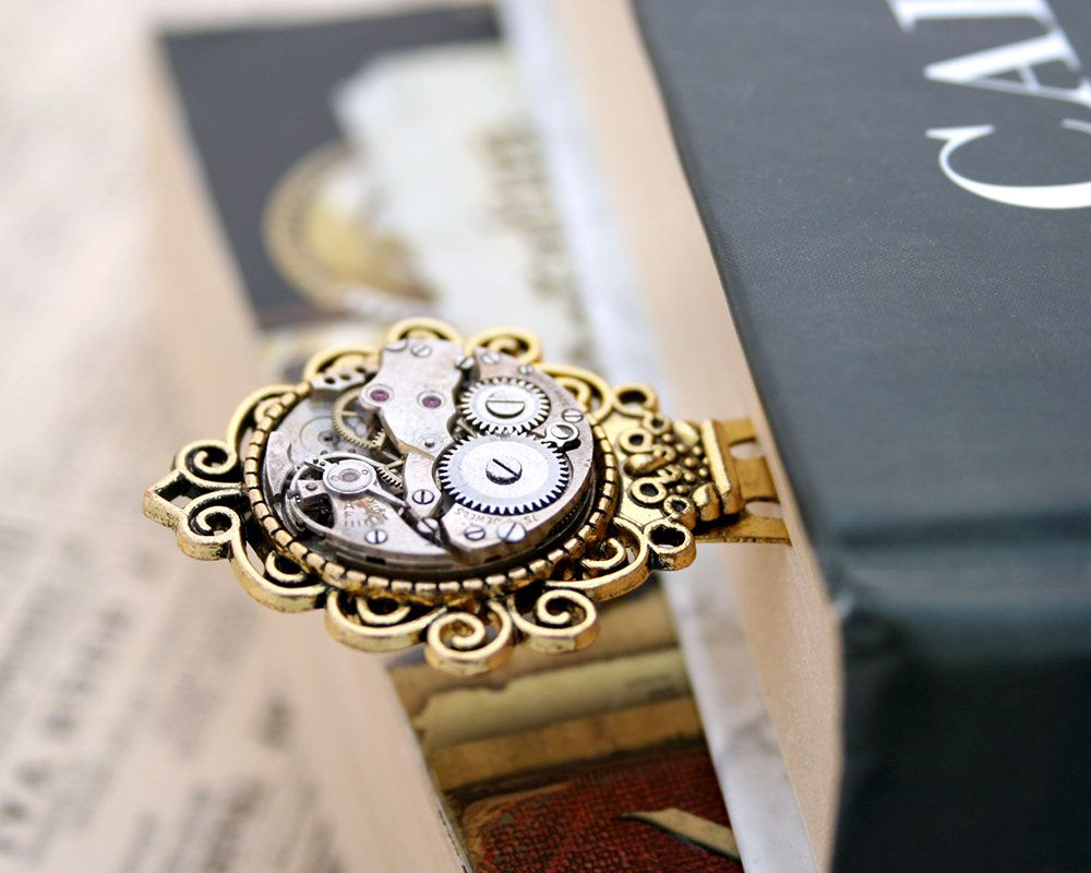 Steampunk bookmark clip, Metal bookmarks │Book Riot