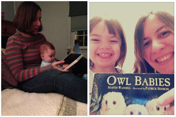 Contributor Steph Auteri reading to her child, in celebration of bookish moms for Mother's Day