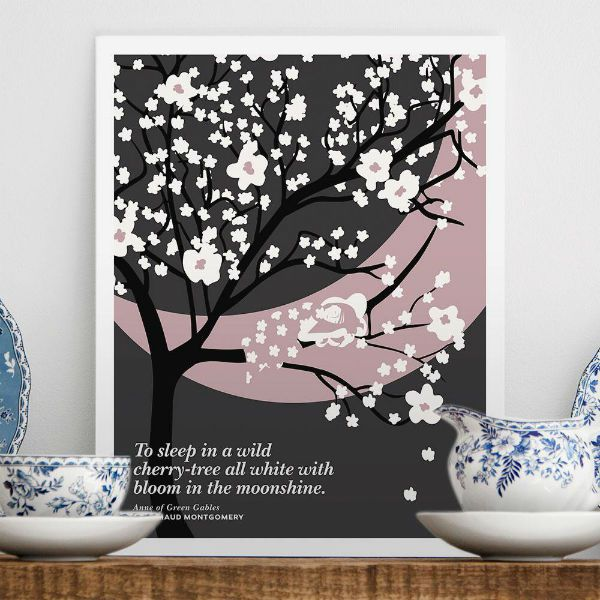 cherry tree print