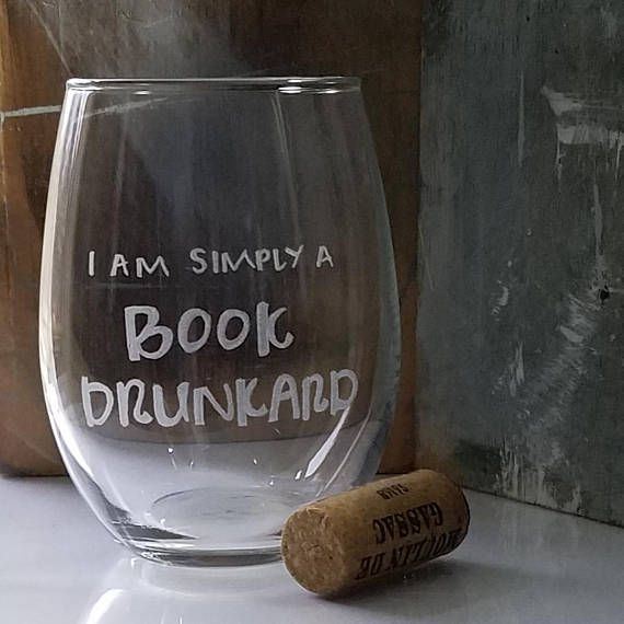 book drunkard wine glass
