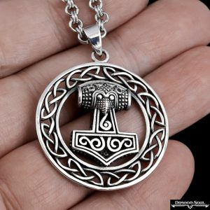 Celtic Knot Thor's Hammer Necklace