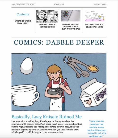 Comics Syllabus to Dabble Deeper, Page One | Book Riot