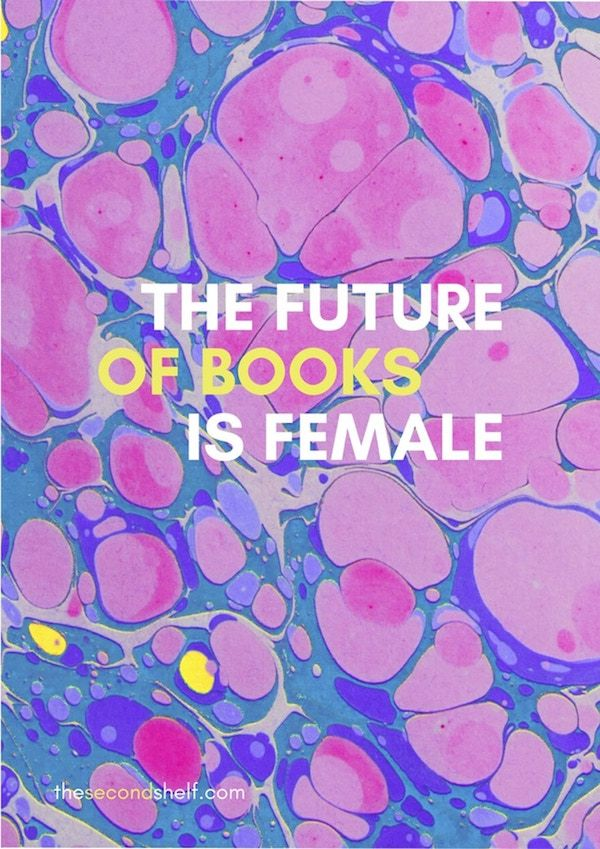 Future of Books is Female Second Shelf Poster