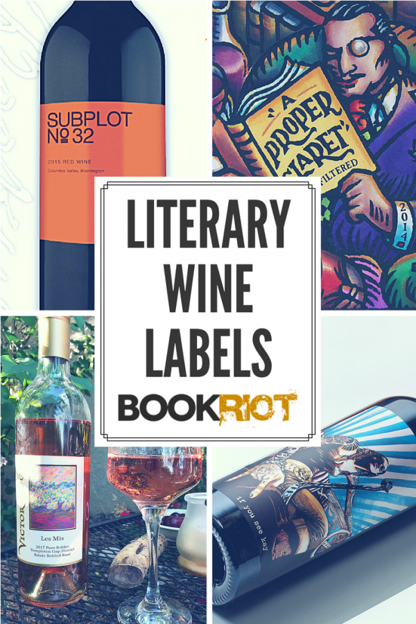 literary wines on bookriot
