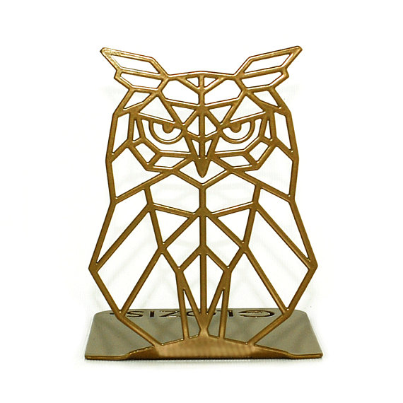 Metal Owl Bookends
