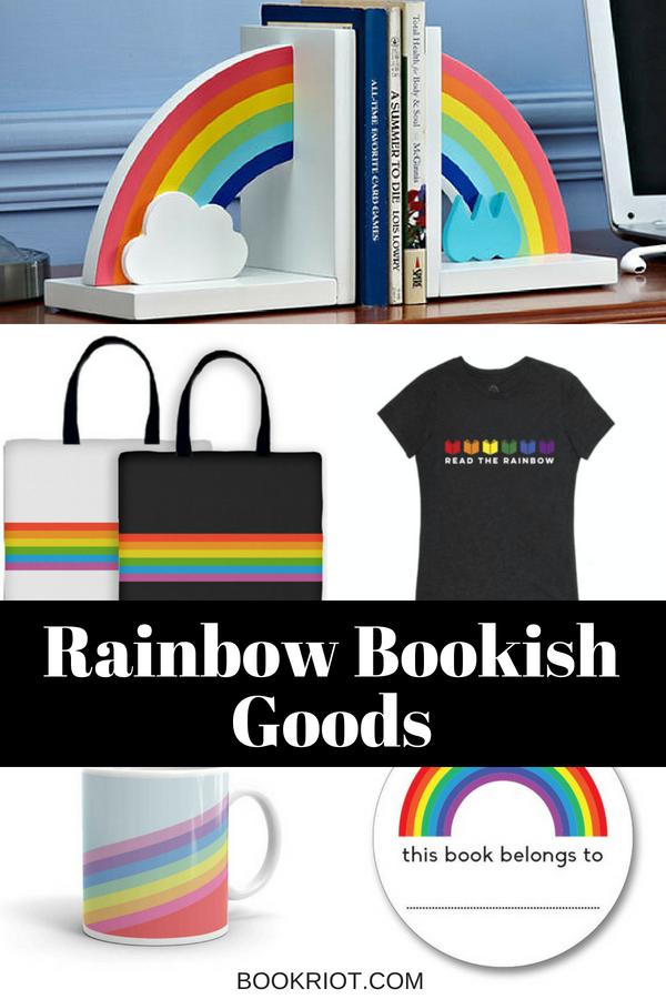 rainbow bookish goods