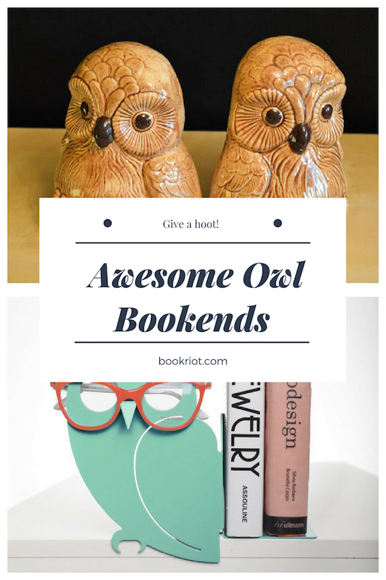 Awesome Vintage Owl Bookends