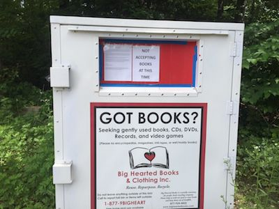 Big hearted books, donations