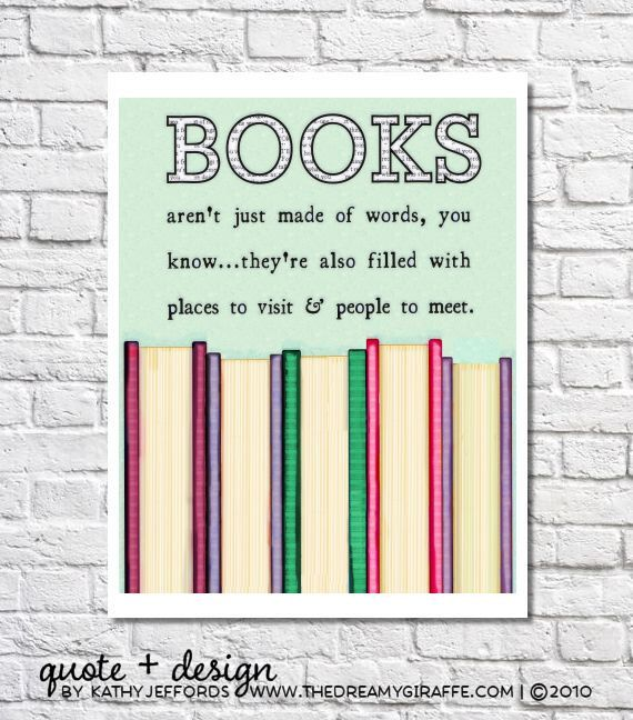 Books aren't just made of words book wall art