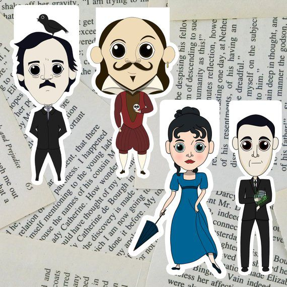Classic Author Magnetic Bookmarks