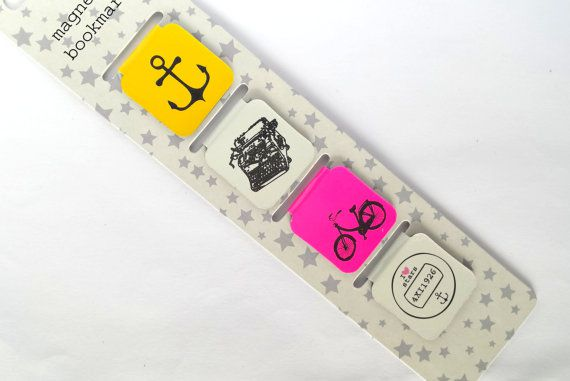 Brightly Colored Magnetic Bookmarks