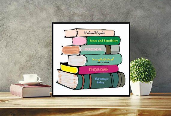 Custom book stack book wall art