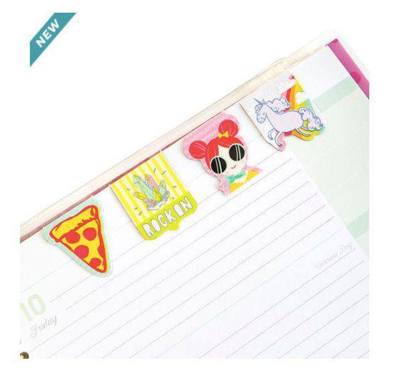 Cute Magnetic Bookmark Set