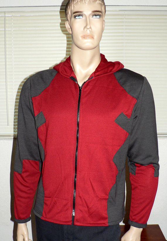 deadpool hoodie zipup