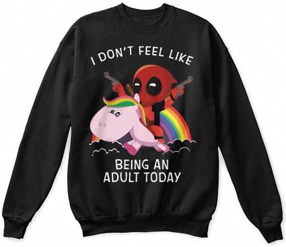 deadpool unicorn sweater