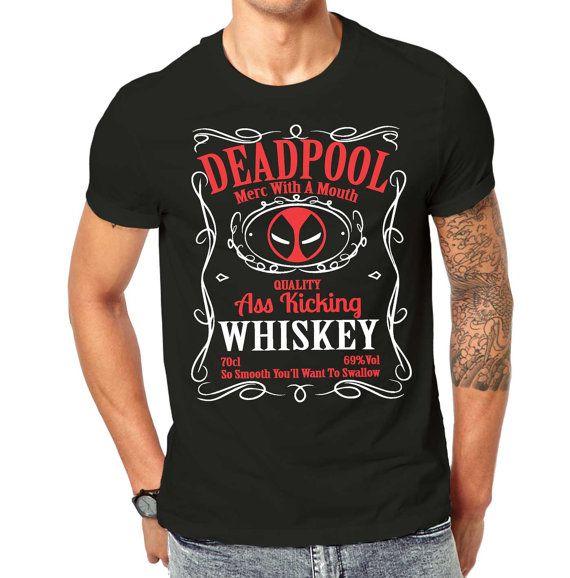 deadpool ass kicking whiskey tshirt
