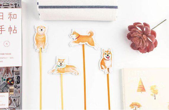Adorable Shiba Inu Dog Magnetic Bookmarks