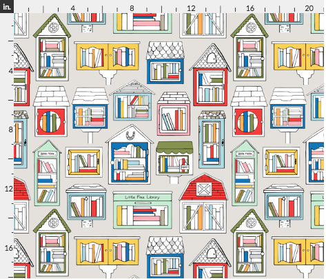 little free library fabric