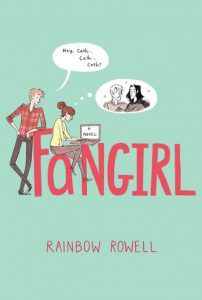 fangirl by rainbow rowell book cover ya books about anxiety