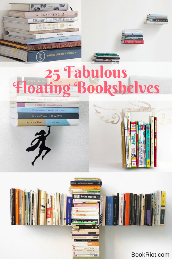 25 Fabulous Home Offices That Unleash Mediterranean Magic: 25 Fabulous Floating Bookshelves For Your Home