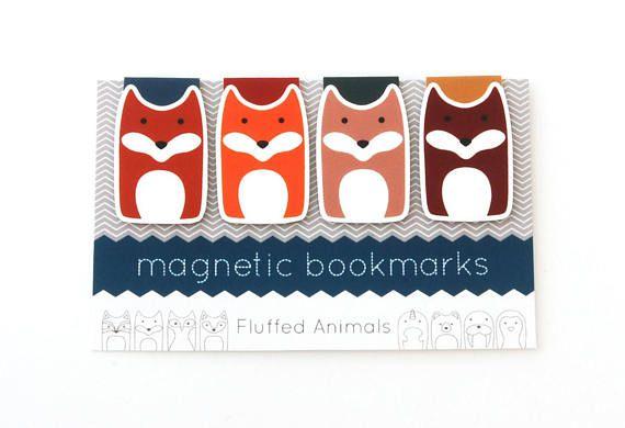 Fox magnetic bookmark set