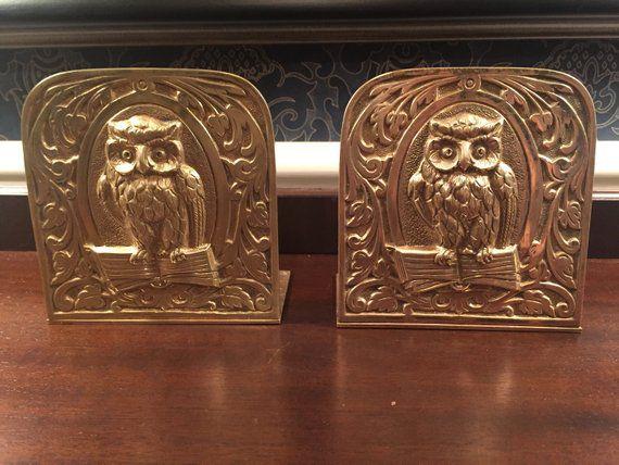 brass owl bookends