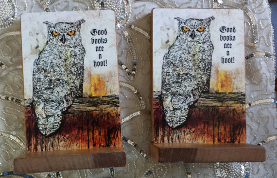 Good Books Are A Hoot Owl Bookends