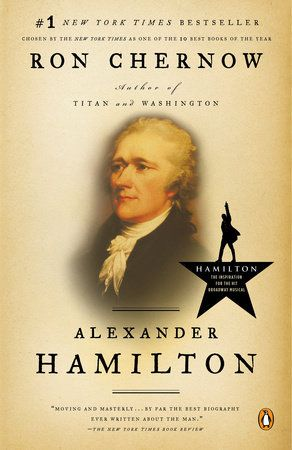 Hamilton by Ron Chernow Book Cover