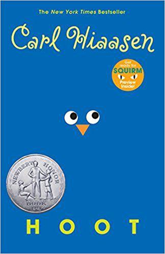 Hoot by Carl Hiaasen book cover