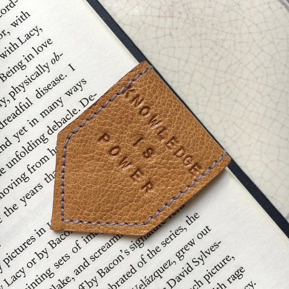 Leather Magnetic Bookmark
