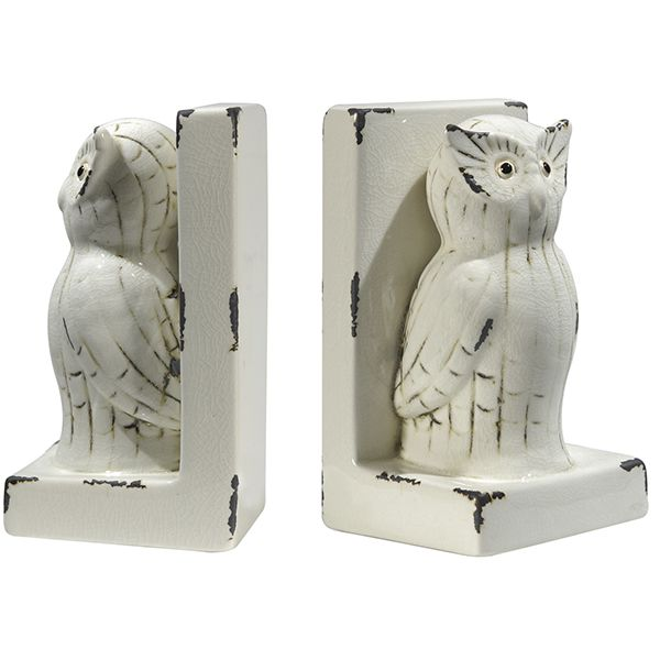 handmade and unique owl bookends