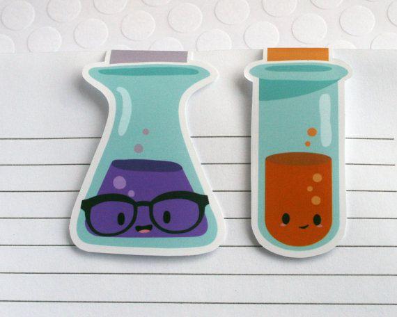 Science beaker magnetic bookmarks