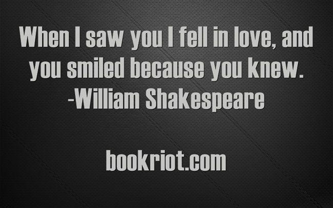 shakespeare wedding quote bookriot